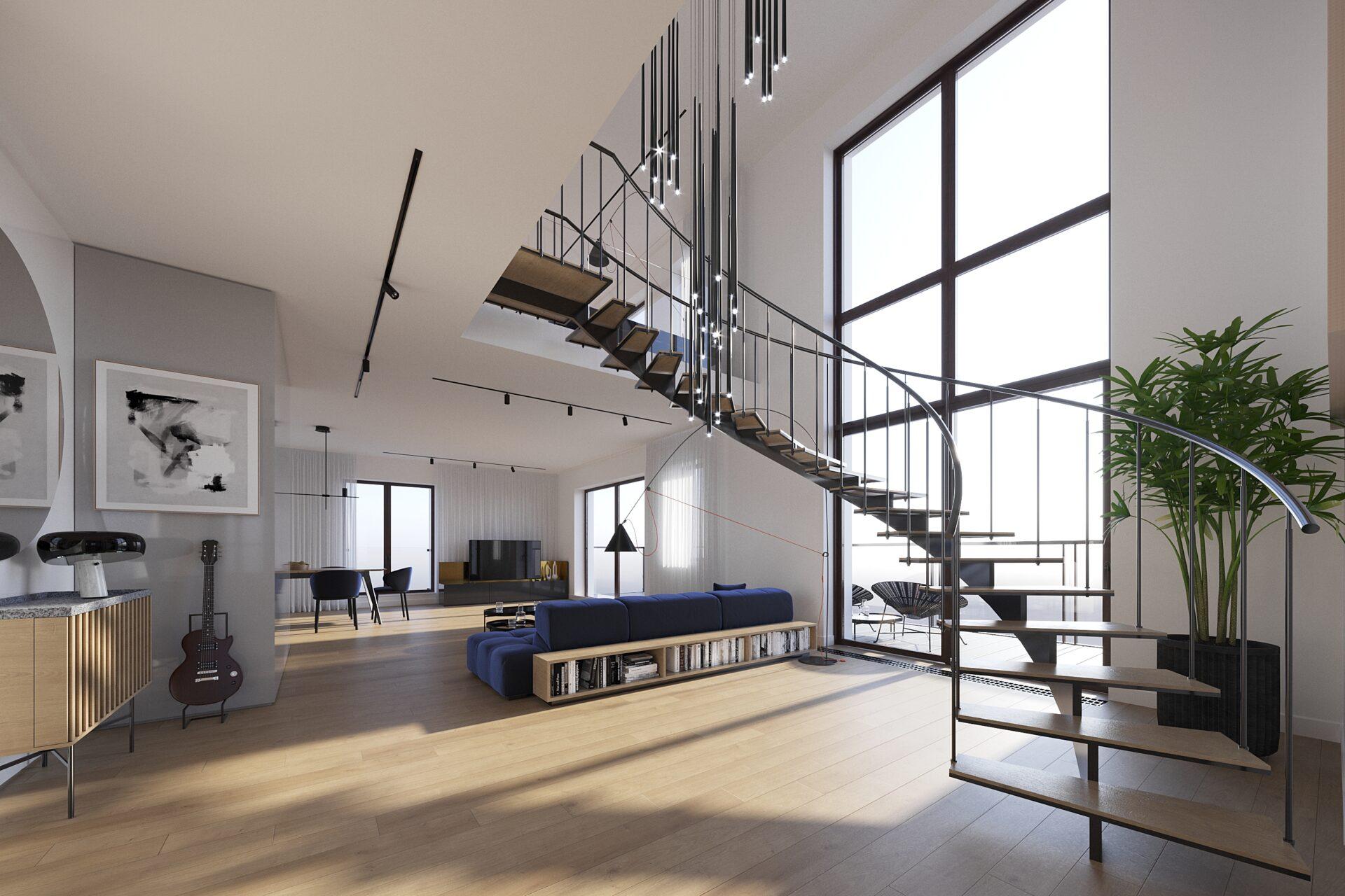 Cascade Residence - Wizualizacja poglądowa