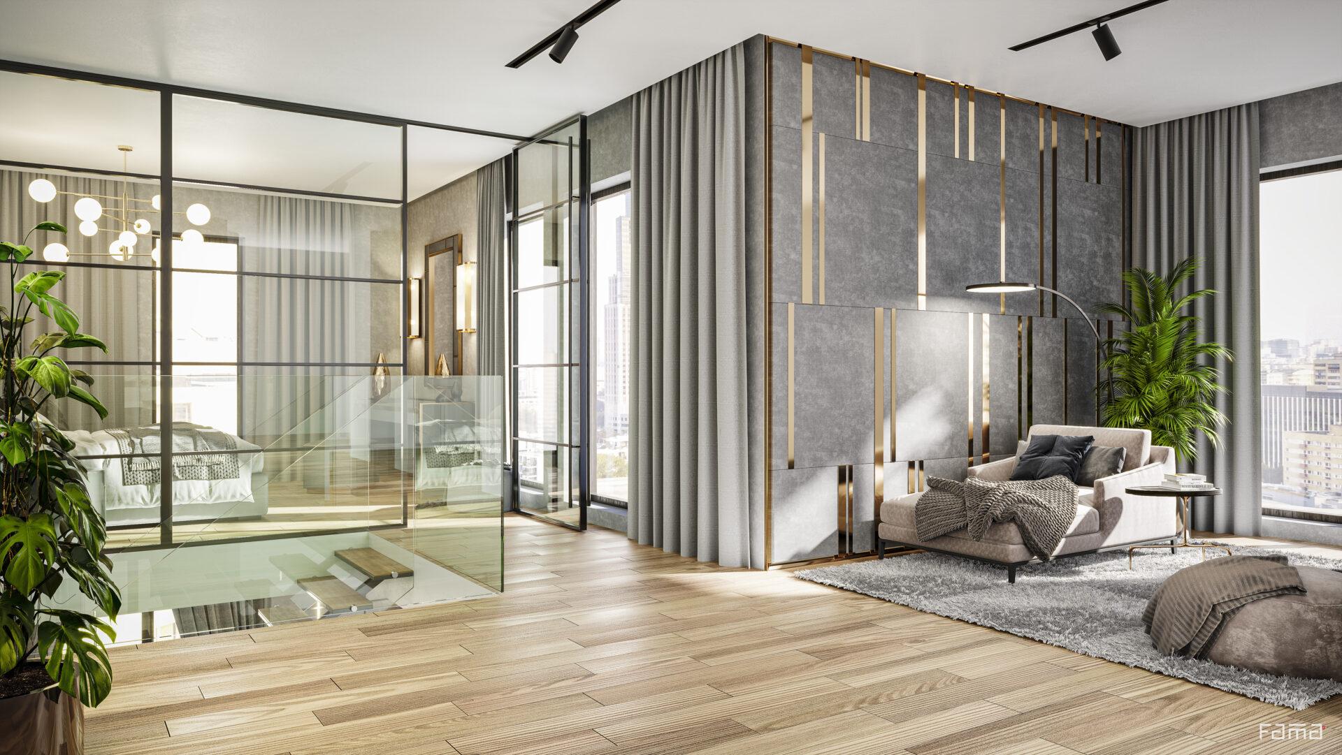 W Apartments - Wizualizacja poglądowa